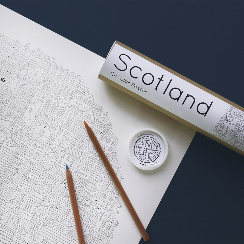 Berlin blueprint the city works circular city poster scotland front by the city works malvernweather Choice Image