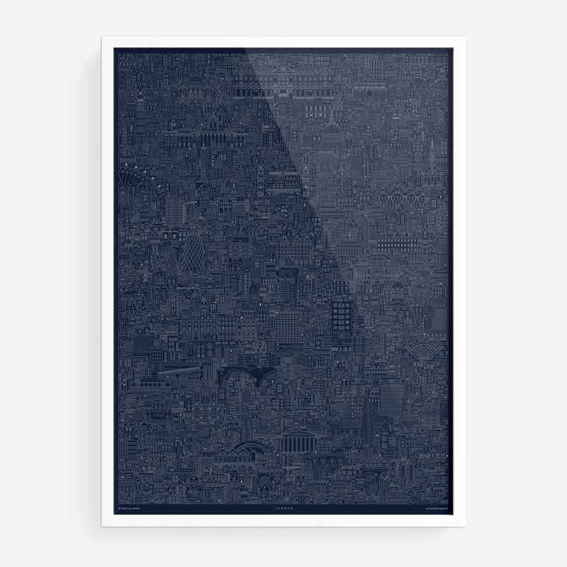 Art prints the city works london cityscape blueprint malvernweather Images