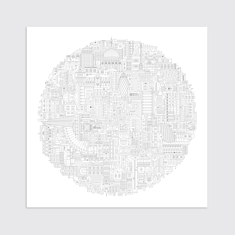 Berlin blueprint the city works london art print malvernweather Image collections