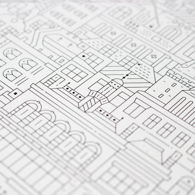 Berlin blueprint the city works scotland circular poster malvernweather Choice Image