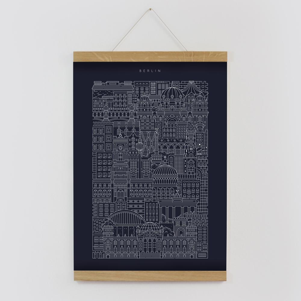 Berlin blueprint the city works berlin blueprint framed by the city works malvernweather Choice Image
