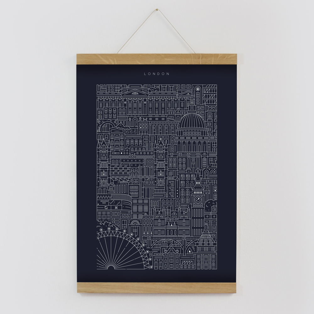 London blueprint the city works london blueprint framed by the city works malvernweather Image collections