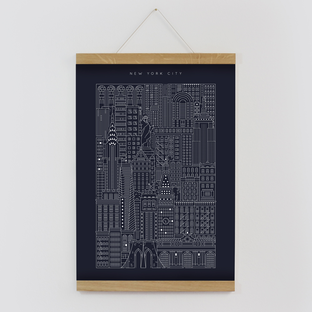 New york blueprint the city works nyc blueprint framed by the city works malvernweather Gallery